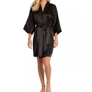 Cabernet Black Satin Robe Size LG